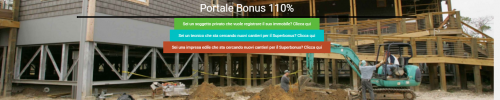 Piattaforma indipendente Portale Bonus 110%