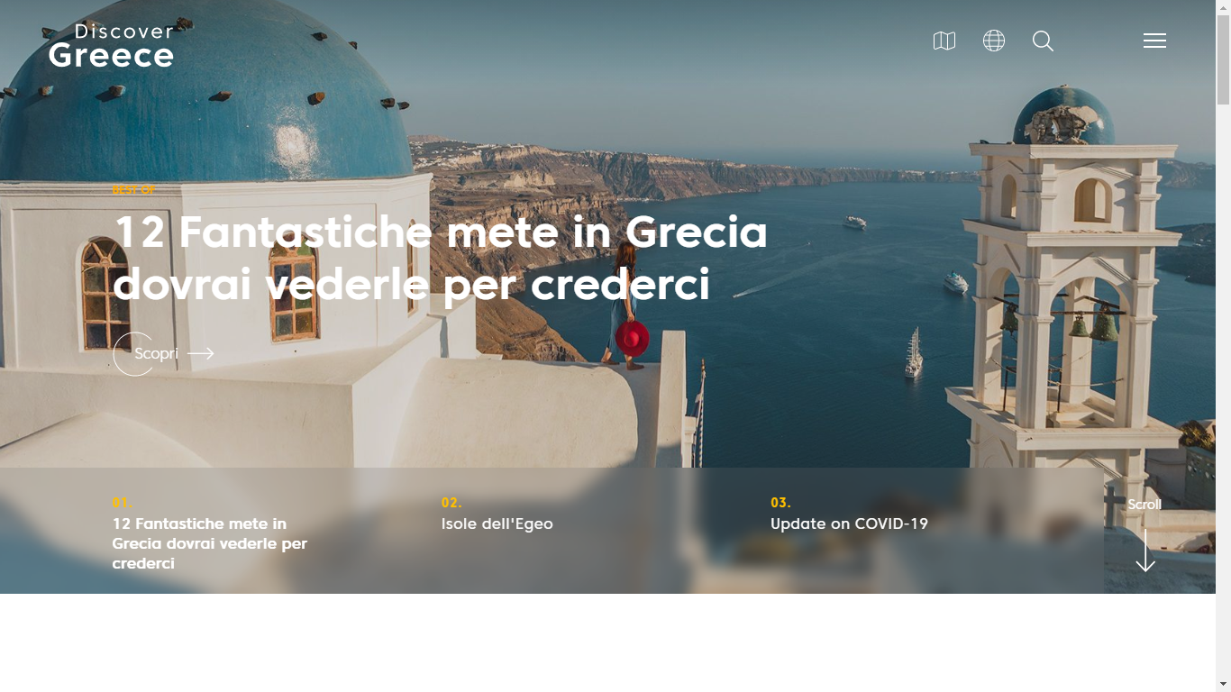 Discover Greece Homepage